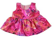 """Party Pink Dress Teddy Bear Clothes to fit 15"""" build a plush"""