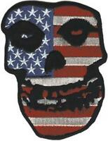 The Misfits - Crimson Ghost Skull With Usa / American Flag - Embroidered Iron On