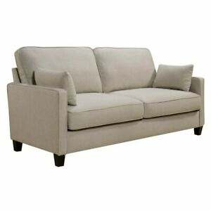 Details About Serta At Home Nina Chenille Sofa In Linen