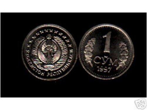 UZBEKISTAN 1 SOM KM8 1997 FIRST SERIES UNC COIN LOT X 100 PCS MONEY CENTRAL ASIA