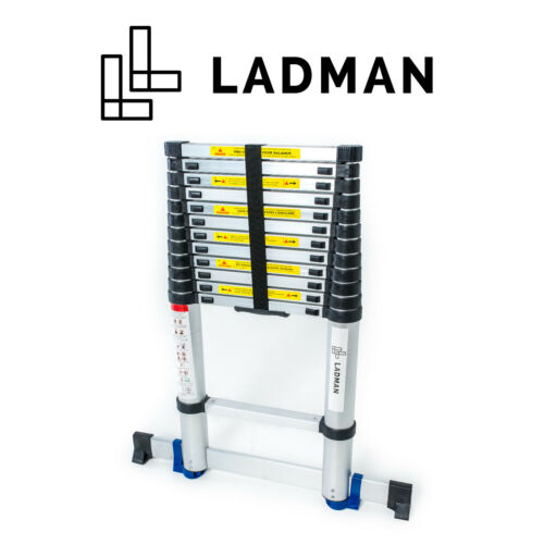 LADMAN® Echelle Télescopique Simple de 3.8m Multifonction Multi Usage