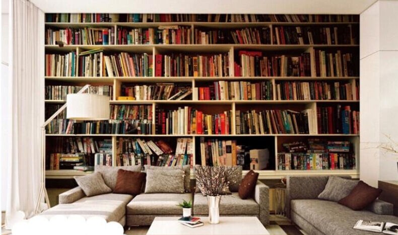 3D Many Books Shelf Wall Paper Wall Print Decal Wall Deco Indoor wall Mural Home