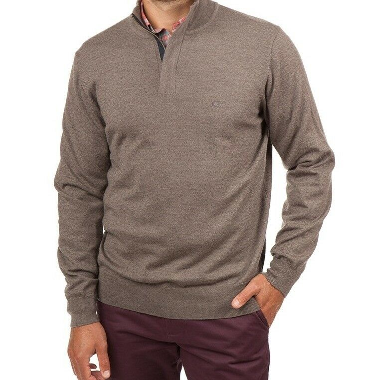 Southern Tide Captains 1/4 ZIP Pullover Sweater Driftwood Khaki XL NWT 165