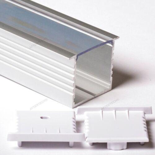2M 2metri Profil Aluminium Pour Bandes Strip LED Barre Rigide 2mt