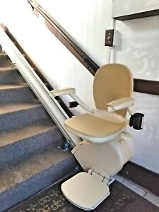Stair chair lift Curved Image Is Loading Newbrooksacornsuperglide130stairchairlift New Brooks acorn Superglide 130 Stair Chair Lift Straight Ebay