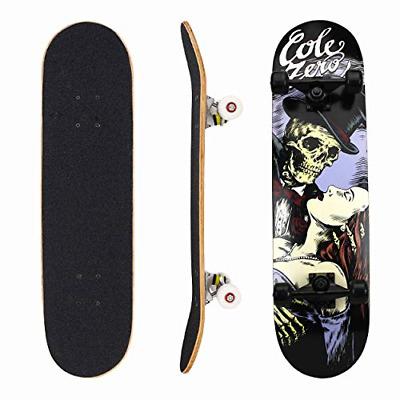 Geelife Skateboard 7 Layers Decks 31x8 Pro Complete Skate Board Maple Wood Longboards for Teens Adults Beginners Girls Boys Kids