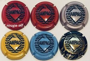Mars 2020 Série de 6 Caps de champagne GENERIQUE de la Vigne à la dégustation