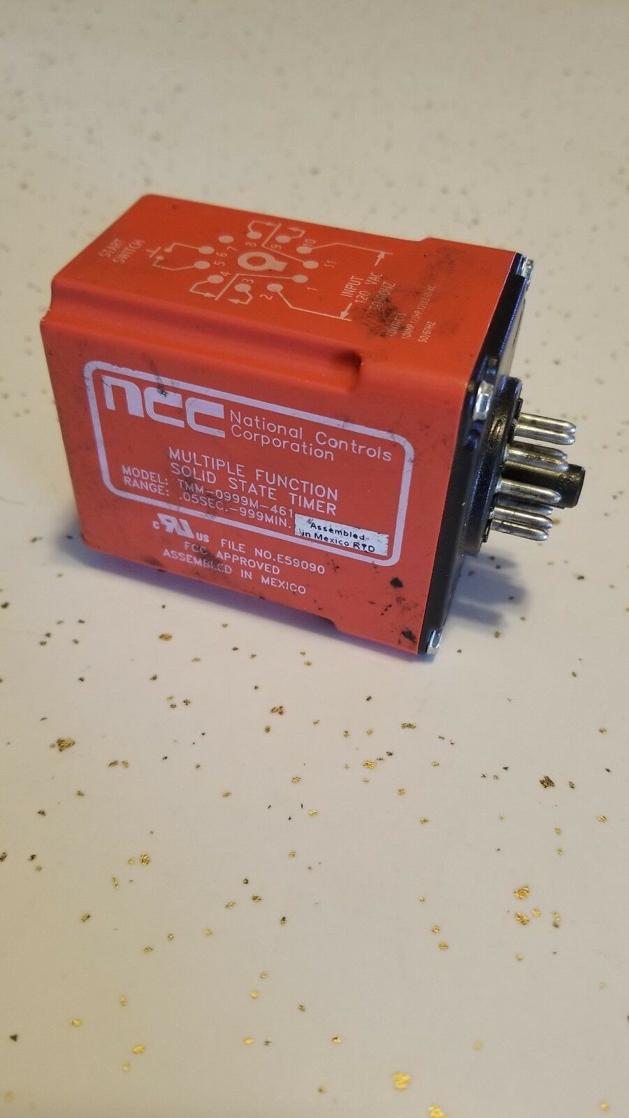 NCC TMM-0999M-461 SOLID STATE TIMER .05 SEC. -999 MIN.