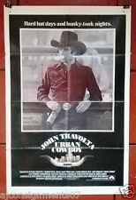 """URBAN COWBOY {JOHN TRAVOLTA} Original 41x27"""" U.S. Movie Poster 80s"""