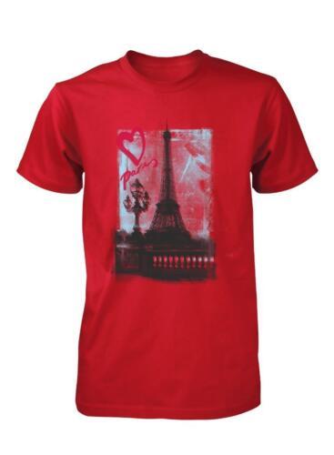 BNWT Romantic Love Paris Eiffel Tower Valentine France Adult T Shirt S-XXL
