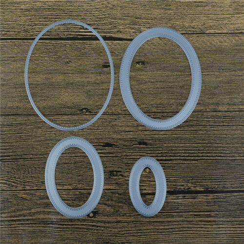 4Pcs//set Oval Metal Cutting Dies For DIY Scrapbooking Album Paper CardsBS