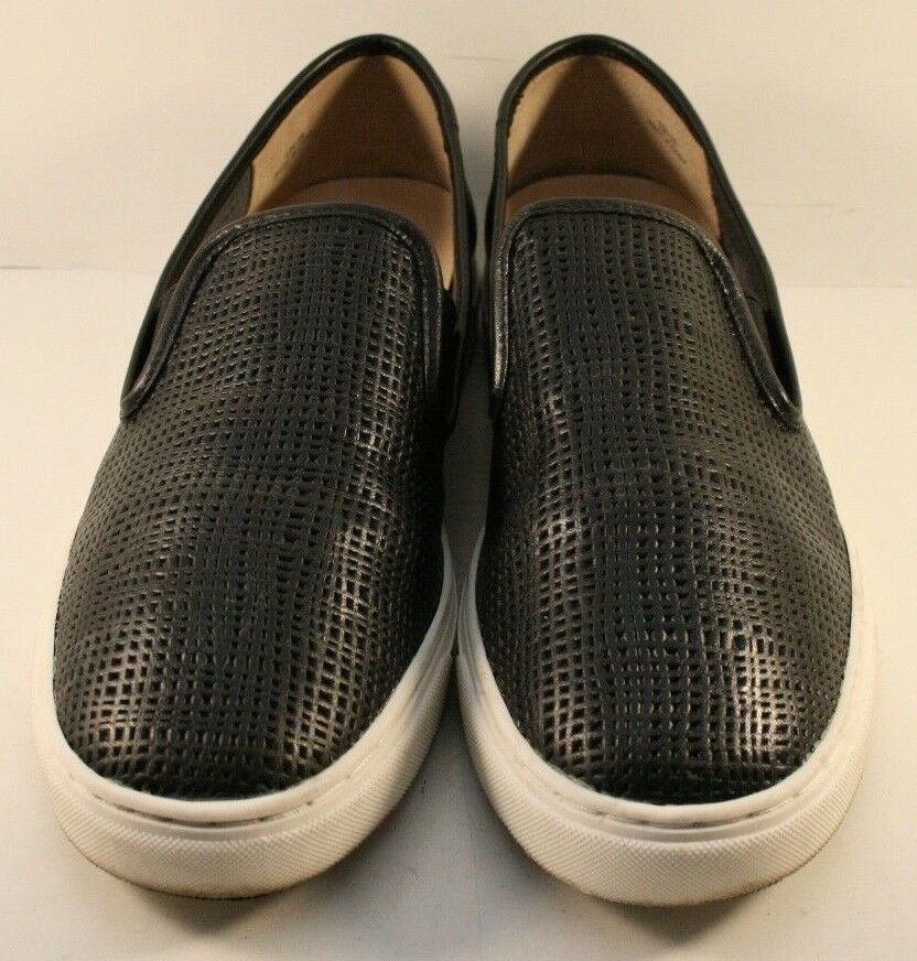 Vince Camuto Black Leather Becker Slip On  Fashion Sneakers Womens Size US 9M