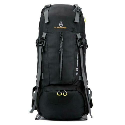 60L Large-Capacity Camping Hiking Waterproof Backpack w// Alloy Support