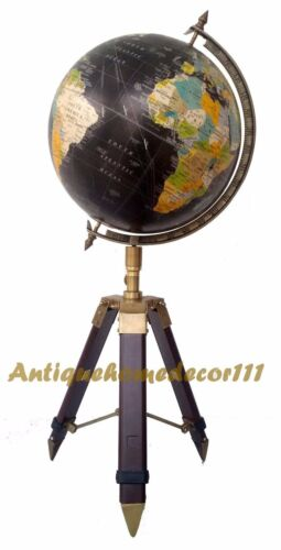 "Vintage Replogle Raised World Classic Series 12/"" Globe on Beautiful Tripod Stand"