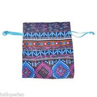 20PCs Multicolor Ethnic Mini Jewelry Gift Bag Gauze Storage Bags 10cmx8cm