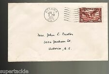 Canada 1935 #C5 FDC Airmail cover, Ottawa to Victoria