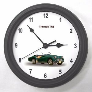 Triumph Tr3 Garage Wall Clock New Great Gift Ebay