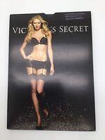 Victoria's Secret Lace Top Stockings Pantyhose Size C Black