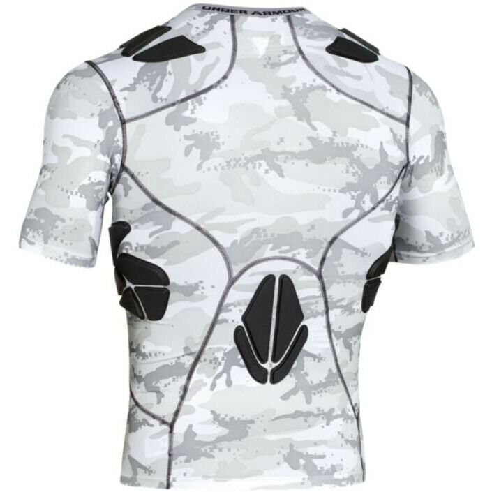Details about  /Under Armour Football Padded Shirt Compression Black 1236233-002 Medium