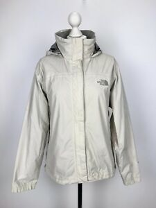 THE-NORTH-FACE-Womens-HYVENT-Jacket-Hooded-TNF-Waterproof-Medium-M-White