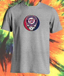 premium selection a7f60 561ae Details about MLB GRATEFUL DEAD JERRY GARCIA STEAL YOUR FACE WASHINGTON  NATIONALS T-SHIRT