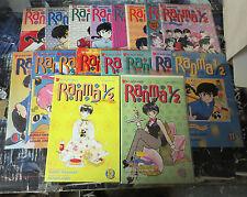 Rumiko Takahashi Lot #1! 17 issues: Ranma1/2 Parts 2 & 3! Nippon Manga Classics