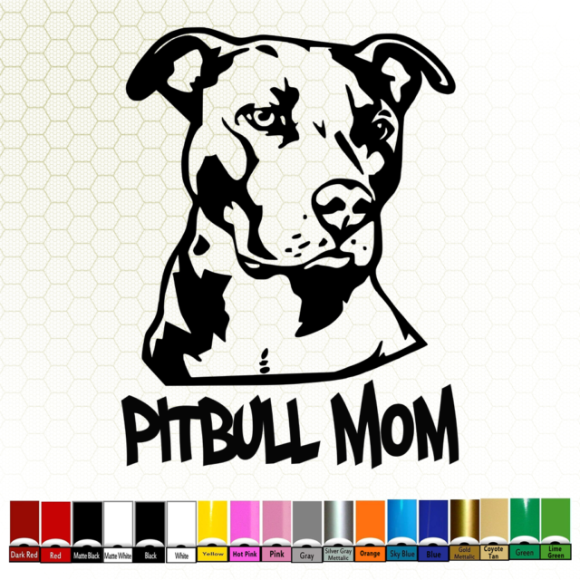 3-COUNT Pit Mom Pit Bull Pitbull Dog Decal Sticker Pet Gift Accessory 7.5 Inch