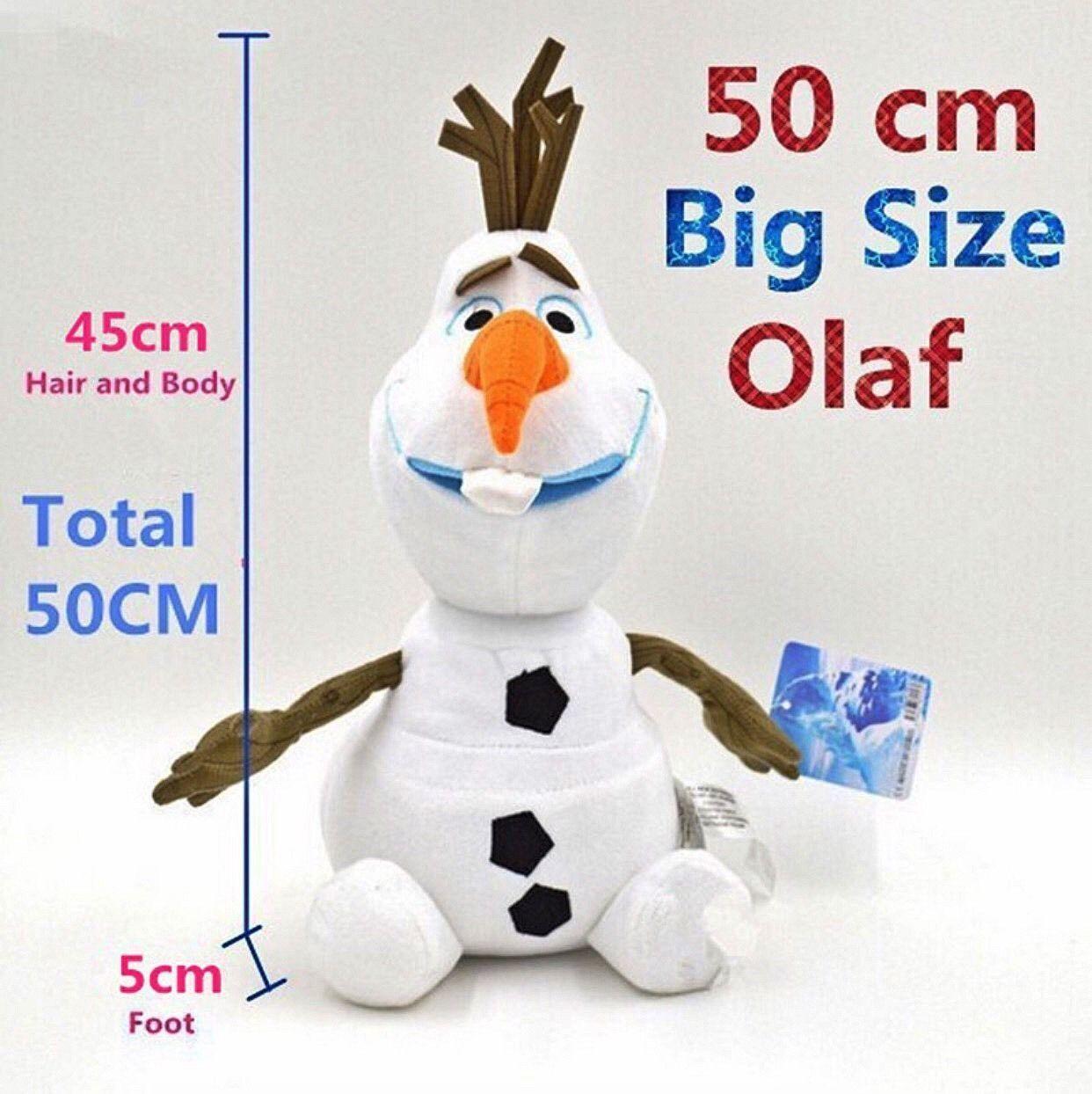 Store 50cm Olaf Snowman Plush Fylld leksak Doll (19tum) NY