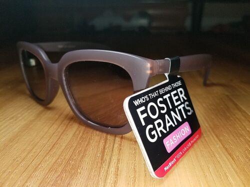Foster Grant Purple Translucent Grayson Woman/'s Sunglasses w Purple Mirror Lens