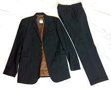 $2595 DOLCE & GABBANA D&G Black Pinstriped Italian 2PC Wool Suit 36R - 32X30.5