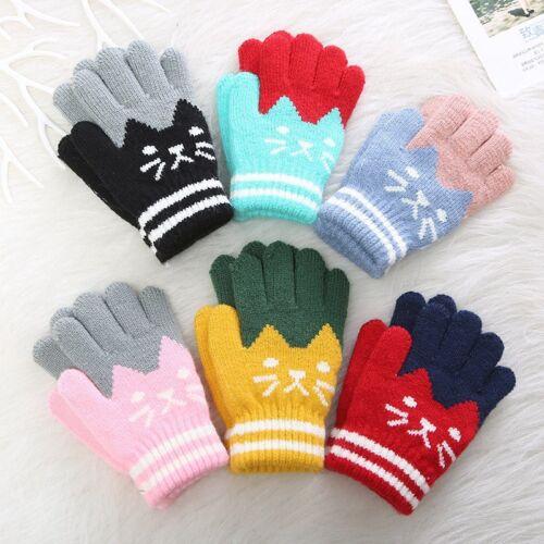 Children/'s Winter Warm Full Finger Gloves Cute Lovely Casual Soft Mitten 1Pair