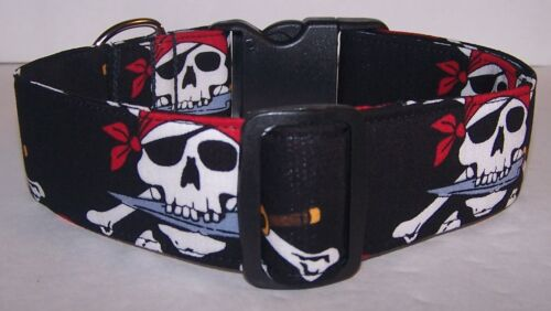 Wet Nose Designs Big Dog Pirate Jolly Roger Dog Collar Skulls Pirates