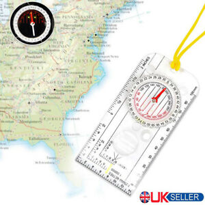 Magnifying Orienteering Compass Navigation Map Reading Scouts Army Hiking ☃