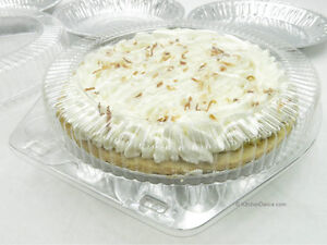 """9"""" Clear Plastic Hinged Pie Containers-Disposable/Reusable -PET Plastic-#CPC-109"""