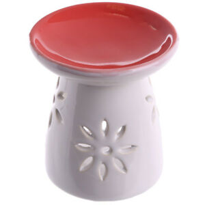 Red-Cut-Out-Flower-Wax-Warmer-Burner-with-pack-of-10-Handpoured-Scented-Melts
