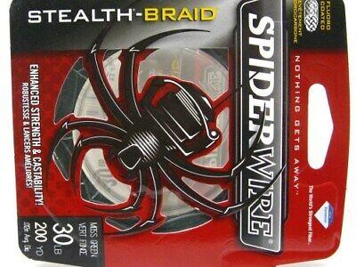 Spiderwire Moss Green Stealth Braid Superline 15 Lb 200 Yds Braided Fishing Line