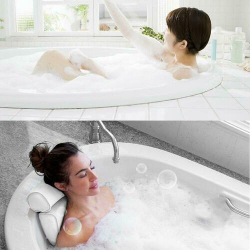Bath Spa Pillow Relaxing Massage with 4 Big suction For Bathtub Tub NEW Hot D5E0