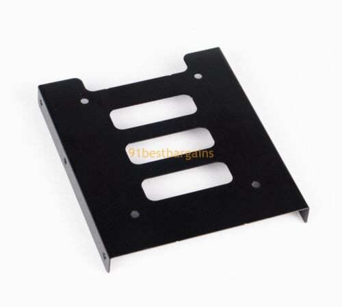 "Black 2.5/"" SSD to 3.5/"" Bay Hard Drive HDD Mounting Tray Bracket Adapter w// Cable"