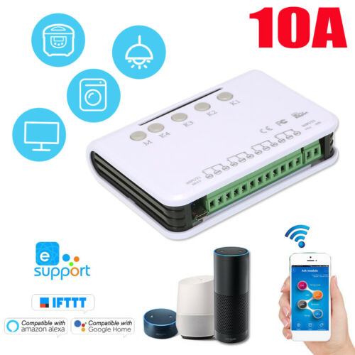 eWeLink DC5V 4CH Smart WiFi Garage Door Switch Voice Control for Smart Home O9A7