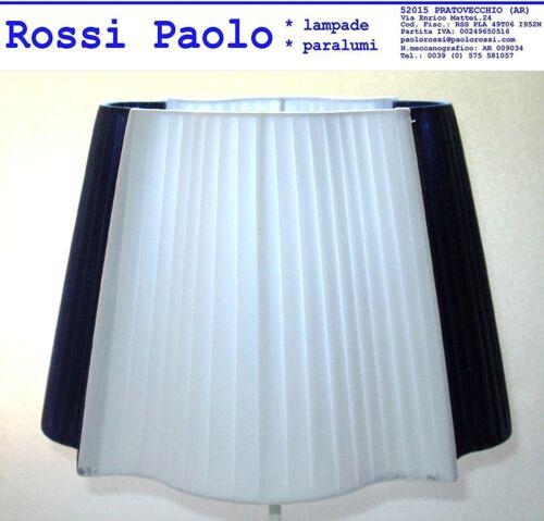 Made in Italy Paralume cristiano cornice tronco cono nastrato bicolore