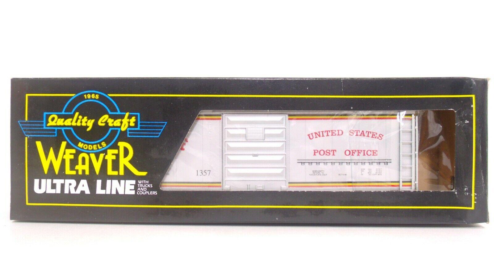 encuentra tu favorito aquí Weaver o BNSF BNSF BNSF United States Post Office 40' PS-1 Caja de Correo Riel Tren Coche 3 -  1357  lo último