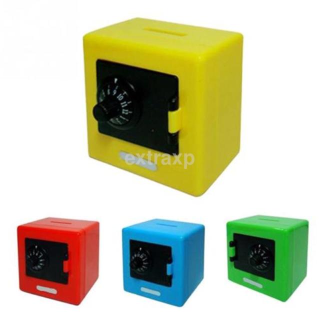 Durable Kid Money Safe Combination Lock Box Starter Piggy Bank Coin Cash Slot US