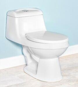 DeVille-6812W-Round-Front-One-Piece-Toilet-w-Soft-Close-Seat-White