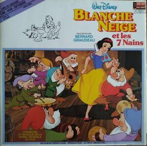 Details About Blanche Neige Et Les 7 Nains Livre Disque Bernard Giraudeau Vinyl 33t Lp