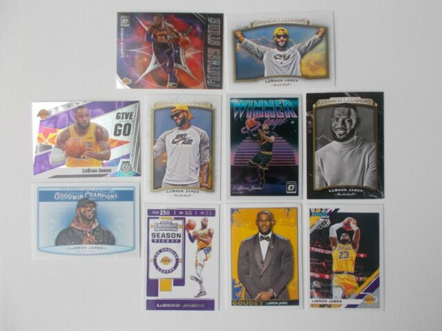 AWESOME! 9 CARD LEBRON JAMES PREMIUM INSERT LOT OPTIC MOSAIC Cavaliers LA Lakers