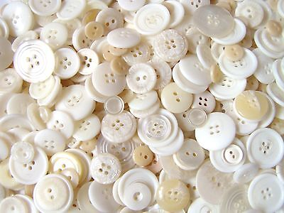 Mixed assorted cream & off white buttons great selection ~ 50g 100g 250g or 500g