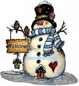20-WATER-SLIDE-NAIL-ART-DECALS-TRANSFERS-CHRISTMAS-BLUE-SNOWMAN