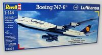 Boeing 747-8 Lufthansa Airliner - 1/144 Revell Of Germany 172-pc Kit 4275