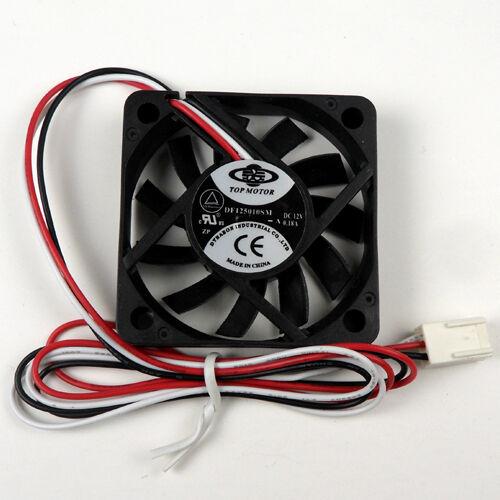 2x 50mm x 10mm Cooling fan 3 pin wire connector for Intel AMD CPU Heatsink Fan