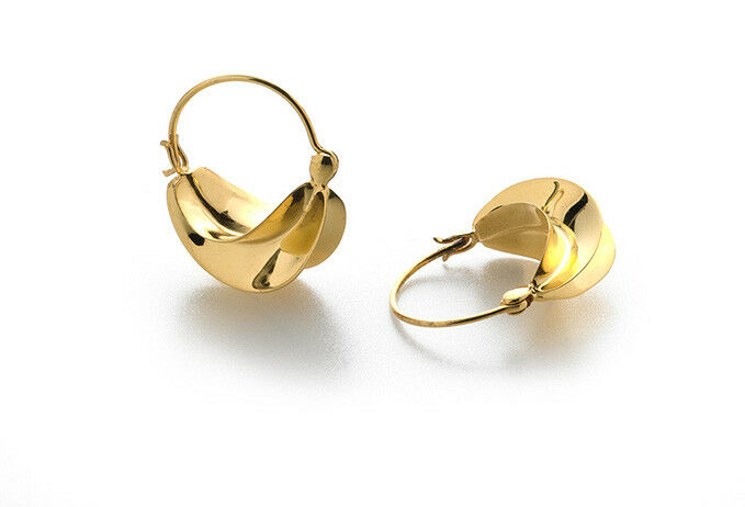 Fulani Hoop Earrings Brass with gold Finish - West African